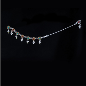 Silver Fancy Colourful Stone Payal by MSK Jewel Art Private Limited