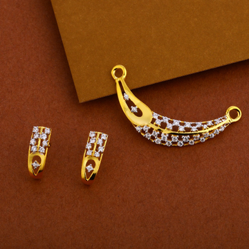 916 Gold Designer Mangalsutra Pendant MP236