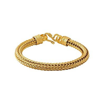 22kt, 916 Hall-Marked strong wire design Yellow Gold Bracelet For Men JKB072