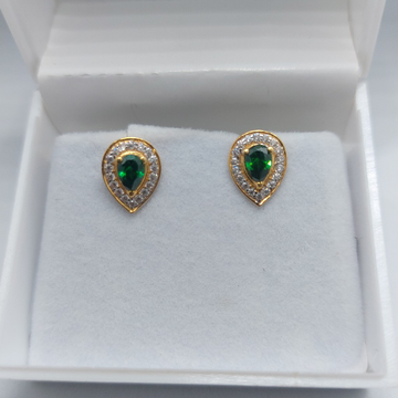 22k royal green earring by Parshwa Jewellers