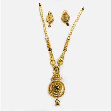 916 Gold Antique Long Necklace Set RHJ-3816