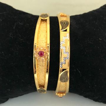 22KT Gold Fancy Bangles VN-B02