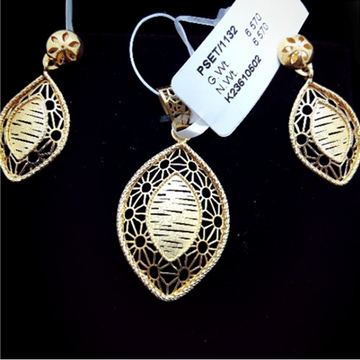 22KT Gold Stylish Pendant Set CMJ-PS001