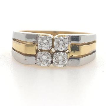 18kt gold classic diamond ring for him 6gr36