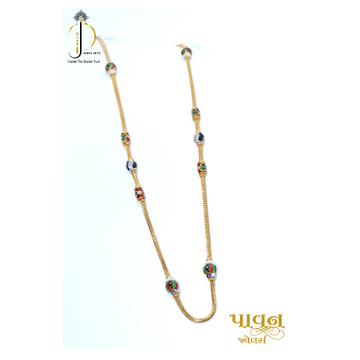 22KT / 916 Gold soid chain with mina bolls For Ladies CHG0048