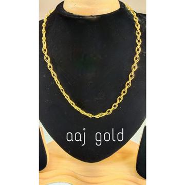 22 kt gold fancy men's chain by Aaj Gold Palace
