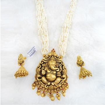 Gold Antique Jadtar Necklace Set RHJ 5253