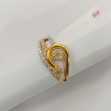 ladis Fancy CZ Ring by Parshwa Jewellers