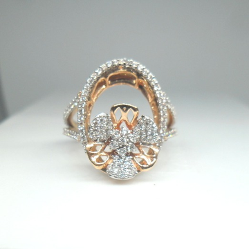 18KT Rose Gold Fancy Special Bridal Ring For Ladies LRG0479