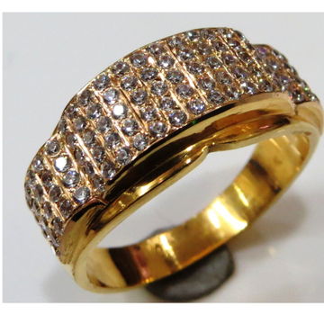 22kt gold close setting cz fancy gents ring gr-007