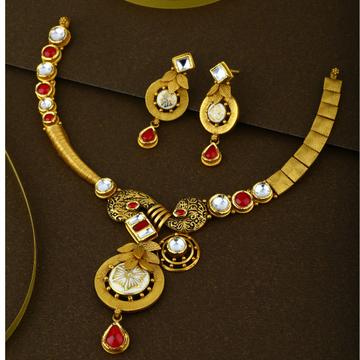 916 gold Hallmark Traditional Weeding Necklace Set
