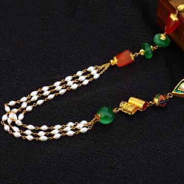 916 Gold Hallmark Designer  Moti Mala AC159