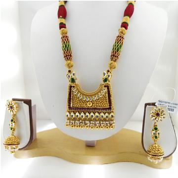 916 Gold Antique Bridal Necklace Set RHJ-3380