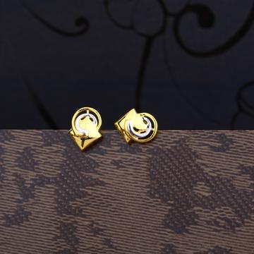 Ladies 22K Gold Fancy Plain  Earring -LPE58