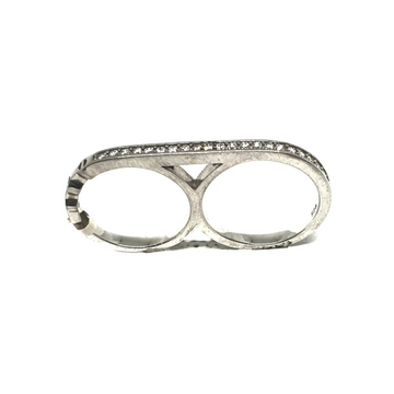 925 Sterling Silver Two Finger Ring MGA - LRS0120
