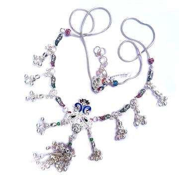 Designer peacock silver kamar bandh mga - kns0004