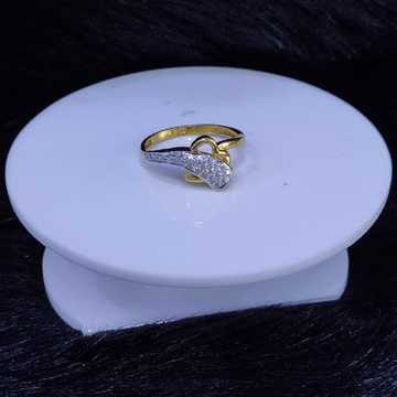 22KT/916 Yello Gold Fortuna Heart Ring For Women