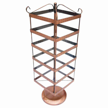 Rotating square Metal earring stand