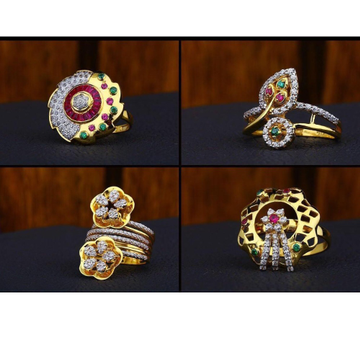22Kt Gold Ladies Diamond Ring RH-LR01
