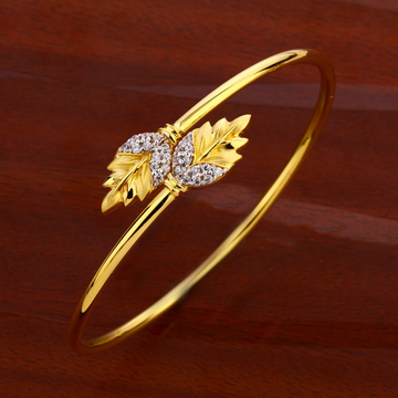 18CT CZ Women's Designer Hallmark  Kada Bracelet L...