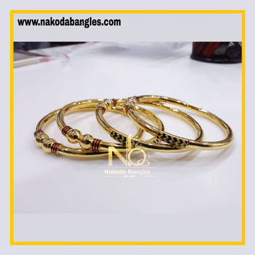 916 Gold Pipe Bangles NB - 830
