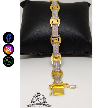 22 carat gold traditional gents bracelet lucky RH-GL406
