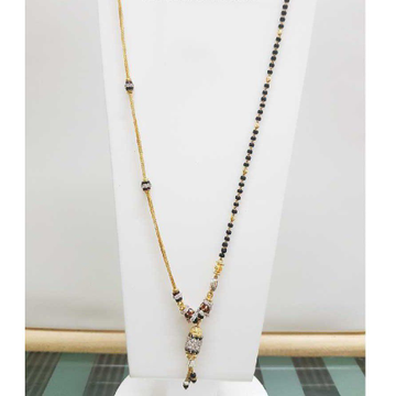 22K/916 Gold half chain and half mangalsutra