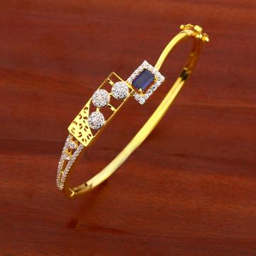750 Gold CZ Ladies Fancy Kada Bracelet LKB116