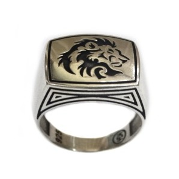 925 Sterling Silver Lion Ring MGA - GRS0630