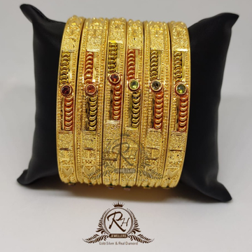 22 Carat Gold ladies classical bangle set rH-bK982