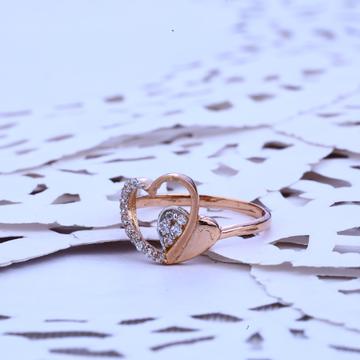 Ladies Rose Gold Cz Ring-RLR159