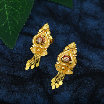 20 kt plen gold earrings
