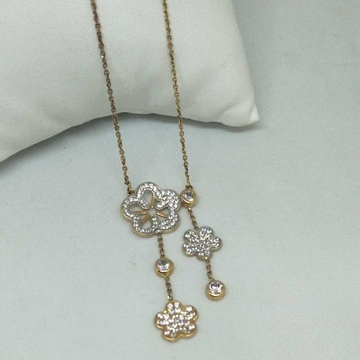18 kt rose gold pendant chain by