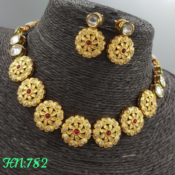 golden necklace set#489