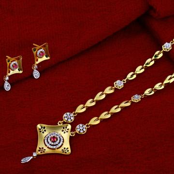 916 Gold Hallmark Fancy  Chain Necklace CN38