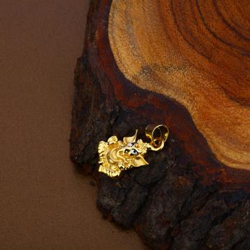Ganpati Gold Hollow Pendant-HLP98