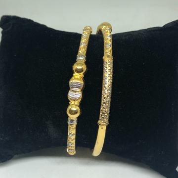 916 Gold Ball Pipe Copper Kadli Bangle VN-B13
