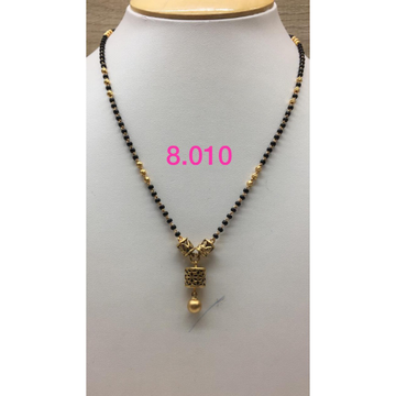 916 Gold Antique Single Line Mangalsutra IO-M05