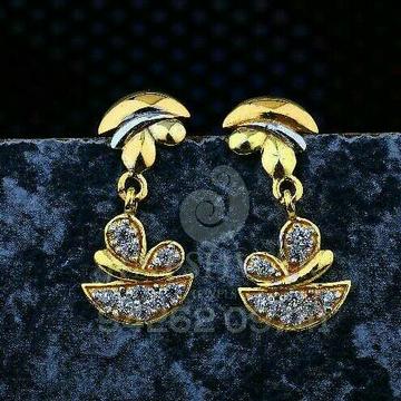 18kt Plain Gold Cz Ladies Tops ATG -0747