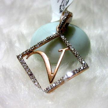 Amazing Rosegold V letter Designer pendant