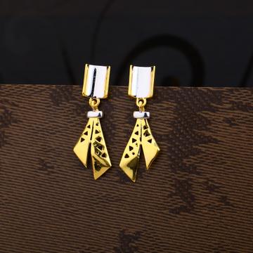 Ladies 916 Gold Delicate CZ Earring -LPE197