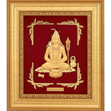 999 GOLD MAHADEV FRAME by