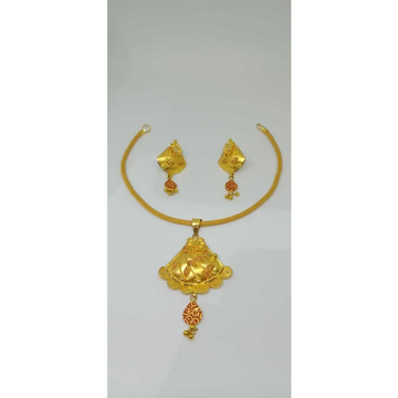 22kt gold  hallmarked necklace set bj-n07