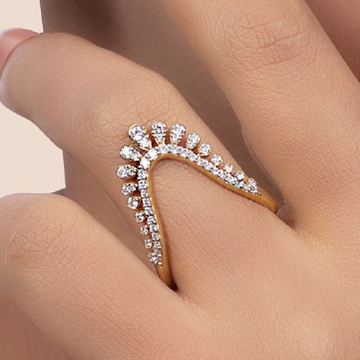 """22 CT GOLD RING """"U"""" SHAPE by"""