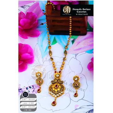916 Gold Antique Long Necklace Set DKG-0008