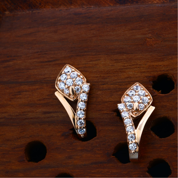 18KT CZ Rose Gold Attractive Design Earring For Women
