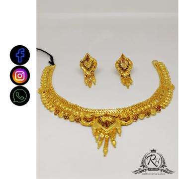 22 carat gold antiq necklace set RH-NS405