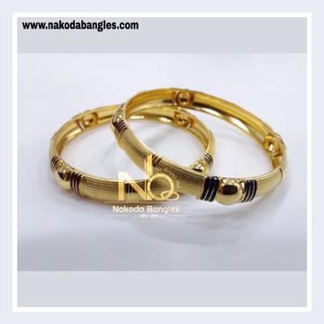 916 Gold Patra Bangles NB - 829