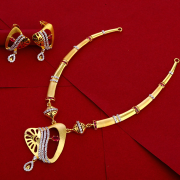 916 Gold Ladies stylish Necklace Set LN261