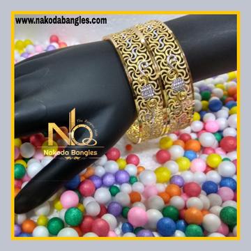 916 Gold Patra Bangles NB - 622